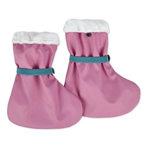 lovely lemon Gefütterte Regenfüßlinge in Rosa für Mädchen | Öko Tex Standard 100 | One Size für Babys und Kleinkinder | Wasserdicht | verschweißte Nähte | Waschbar bei 40° C