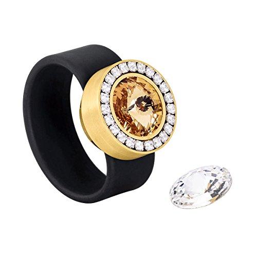 heideman ars gratia artis Ring  vergoldet/schwarz DE 54
