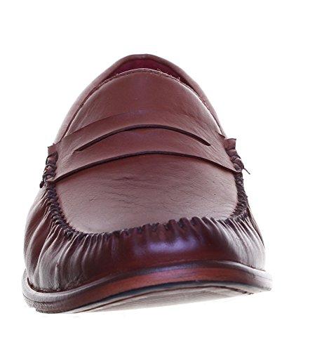 Justin Reece  Dorian, Chaussures de ville à lacets pour homme Mahogony D12