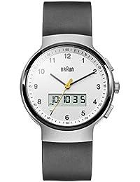Braun Herren-Armbanduhr Analog Quarz Silikon - BN0159WHBKG