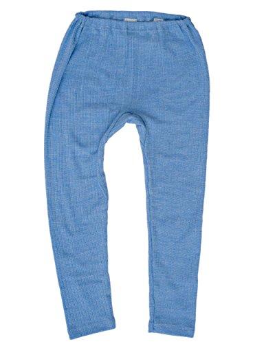 Cosilana Cosilana, Kinder Leggings/Lange Unterhose, 45% KBA Baumwolle, 35% kbT Wolle, 20% Seide (92, Blau Meliert)