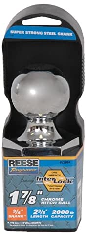Reese Towpower 72804 Chrome Interlock 1-7/8 Hitch Ball by Reese Towpower
