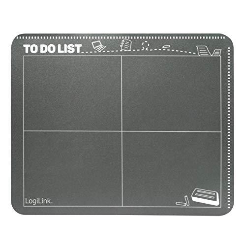 """LogiLink ID0165 \""""Kalender/Tafel-Design\"""" Mauspad mit Einschubfach Schwarz"""