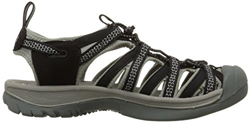 Keen Whisper W, Sandali da Arrampicata Donna grigio (Black-Neutral Gray)