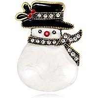 Kentop Broches Navidad Linda muñeca de Nieve de Navidad Forma Brooch
