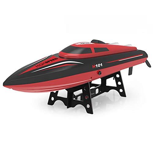 AIOJY Drahtlose Fernbedienung 2,4 GHz Elektroboot Schwimmbad Innen-und Außenbereich 4 Kanäle Schnellboot Spielzeugboot Modell Hochgeschwindigkeits-RC-U-Boote Kind Fernbedienung Boat Boy Wasserdichte Y -