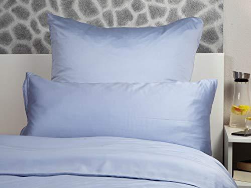Peach Bettwäsche-Sets aus 100% Bambus (Gray Dawn, Bettdeckenbezug 155 x 220cm + Kopfkissenbezug 80 x 80cm) -