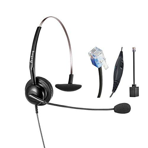 Cuffia telefonica mono rj9 headset call center con microfono per annullamento rumore per cisco yealink snom fanvil grandstream huawei dlink htek akuvox escene