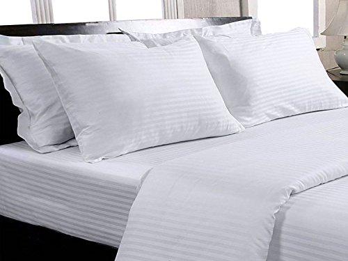 Trance Home Linen 100 % Cotton Premium 400TC Satin Stripes Double Duvet...