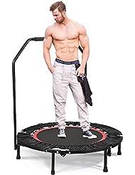 Greenhow Fitness Trampolin Rebounder Gymnastik Trampolin mit Griff für Erwachsene