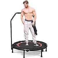 """Preisvergleich für kecoo Fitness-Trampolin Mini Rebounder Trampolin 40"""" Indoor Garden Jumping Haltestange 83-90cm höhenverstellbarer Trampolin-Haltegriff"""