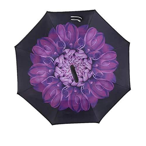 JUNDY Regenschirm, Taschenschirm, Kompakter Falt-Regenschirm, Klein, Leicht, Reiseschirm Sonnenschirm Doppelschirm Farbe3 95cm