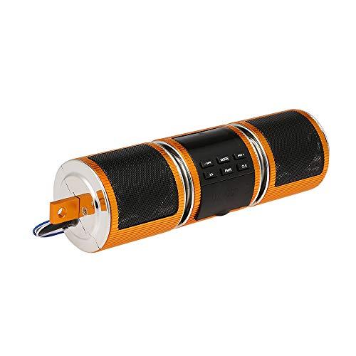 Festnight Wasserdichte Bluetooth Player Motorrad, BT-Lautsprecher MP3 FM-Radio Verstellbare Halterung Stereo-Audio-Lautsprecher
