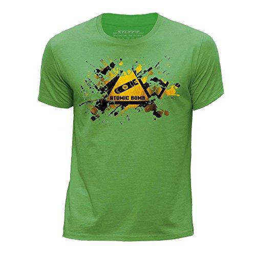 STUFF4 Jungen/Alter 7-8 (122-128cm)/Grün/Rundhals T-Shirt/Splat/Gefahr/Atomar Bombe (T-shirt Bomben Print)