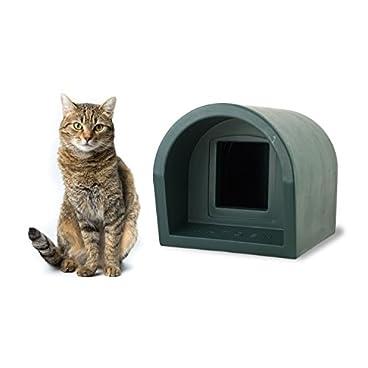 Mr Snugs Outdoor Cat Kennel House & Shelter – Dark Green Colour