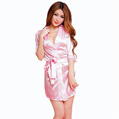 Bomshel-Women-Pink-Babydoll-Nightwear-Lingerie-Nightdress