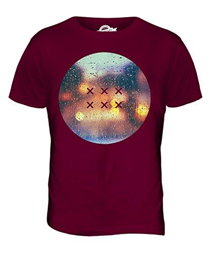 CandyMix Regentropfen Herren T Shirt Burgunderrot