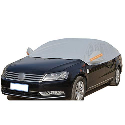 JUST N1 Halbgarage für Auto, wasserdicht, staubdicht, Schnee, EIS, Winter, Sommer, Windschutz für Limousine SUV, grau, 118 x 90 Inch