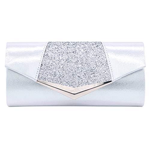 Aimer Pochette Enveloppe Sac de Soirée Pailleté Brillant Style Besace pour Femm