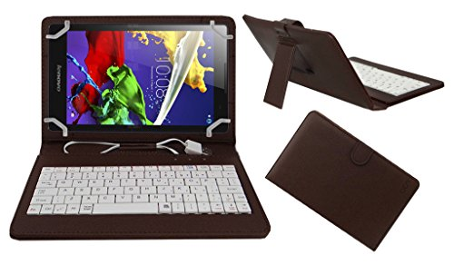Acm Premium Usb Keyboard Case For Lenovo Tab 2 A8 A8-50 A850 Tablet Cover Stand With Free Micro Usb Otg – Brown