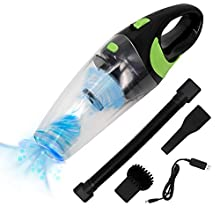 HiKiNS Handheld Vacuum Cleaner 7KPa 100W Powerful Suction Cordless Car Vacuum Cleaner with Quick Charger Tech Wet Dry Use Vac for Home,Car,Office Pet Hair Cleaning - Green