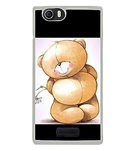 Cute Bear 2D Hard Polycarbonate Designer Back Case Cover for Micromax Canvas Nitro 2 E311