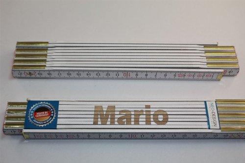 Preisvergleich Produktbild Zollstock mit Namen MARIO Lasergravur