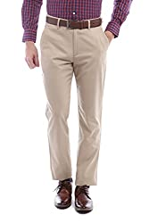 Peter England Slim Fit Pants _ PTF61500422_32_ Beige
