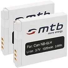 2x Batteries NB-6L pour Canon IXUS 85 IS, 95 IS, 105 IS, 200 IS, 210 IS / Powershot.... voir liste!