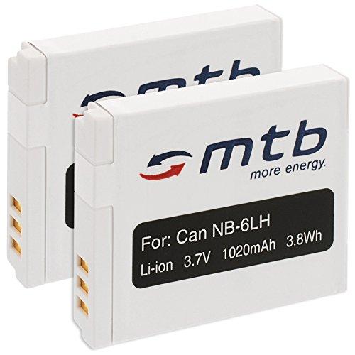 2X Batteries NB-6L pour Canon IXUS 85 is, 95 is, 105 is, 200 is, 210 is/Powershot. Voir liste!