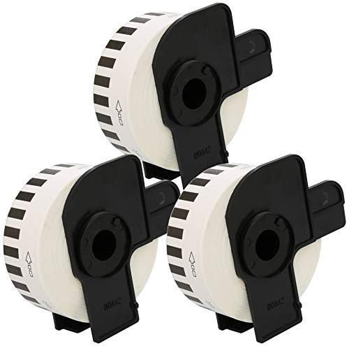 3 x DK 22210 29mm x 30.48m Etiquetas continuas Compatible