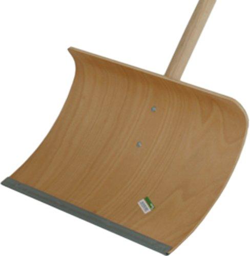 Schneeschieber Holz 55x35 cm, Alukante