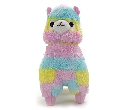 (Meralens Alpaca Alpaca Alpacasso Alpaka Regenbogen Farben ca. 40x30x20cm)