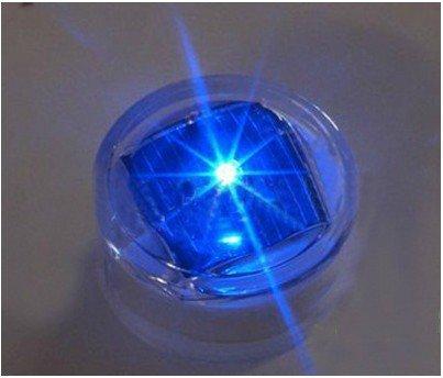 E - 3lue ® 2xsolar LED lumineux clignotant en forme de Panneau de signalisation routière d'herbe de Clous de jardin clignotant (Bleu)