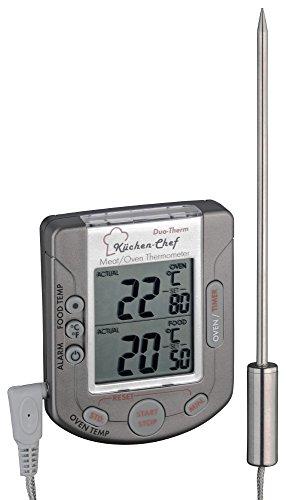 TFA Dostmann Digitales Bratenthermometer TFA 14.1503 Ofenthermometer (Anthrazit)