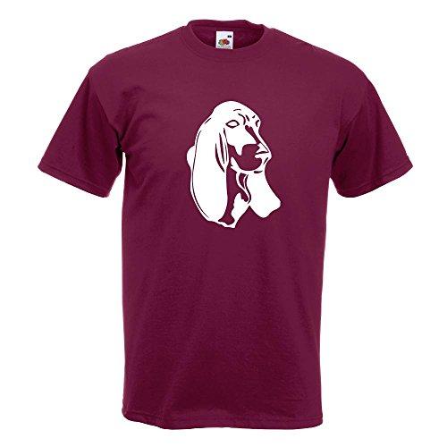 Basset-hound-shirt (KIWISTAR - Basset Hound - Laufhund - Jagdhund T-Shirt in 15 verschiedenen Farben - Herren Funshirt bedruckt Design Sprüche Spruch Motive Oberteil Baumwolle Print Größe S M L XL XXL)