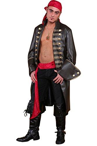 engehrock Piratenkostüm für Männer (Profi Qualität Kostüm Perücken)