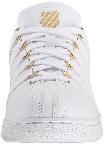 K-Swiss Classic Vn 50th, Baskets Basses Homme Blanc - White (White/Gold)