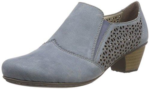 Rieker Damen 41760 Slipper, Blau (Bleu), 39 - Damen Schuhe 12 Halbschuhe