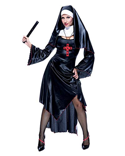 Horror-Shop Sexy Nonnen Kostüm als frivole Halloween & Faschings Verkleidung ()