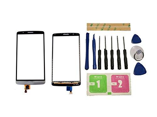 Flügel para LG Optimus G3 D850 D851 D855 VS985 LS990 Pantalla de Cristal Táctil touchscreen glass display Negro( Sin LCD)de Recambio & Herramientas