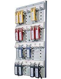 Durable 195610 Keybox Board Panneau Mural pour 24 Porte-clés Keyclip Normalisés Coloris Gris