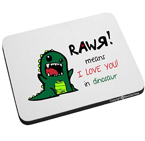 Preisvergleich Produktbild Rawr Means I Love You. in Dinosaurier Mauspad Valentines Tag für beegeetees für beegeetees