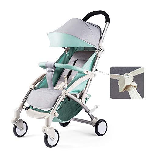 Baby carriage Kinderwagen Kann Sitzen Liegend Ultra Leichte Tragbare Falten Mini FüNf-Punkt-Sicherheitsgurt Radbremse Pu-Material Verstellbaren Sonnenschirm