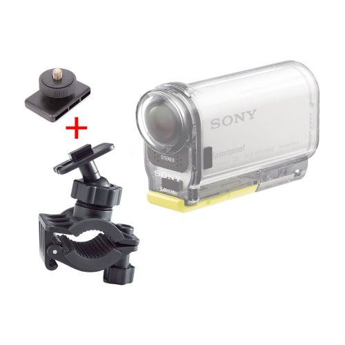 duragadget-secure-clamp-on-road-bike-camcorder-mount-standard-tripod-mount-for-sony-hdr-as100-hdr-as