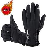 COOLOO Gants d'hiver pour Femme et Homme, Extérieur Windproof Cyclisme Ski Chasse Escalade Gants Tactiles Sport pour Smartphone