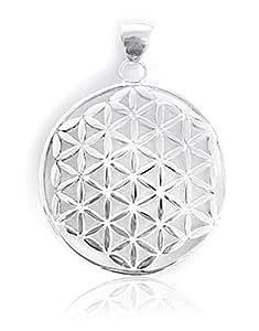 Pendentif fleur de vie en argent sterling 925, délicat amulette ø 32 mm sans chaîne