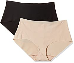 Triumph No Panty Lines Hipster Brief (Pack of 2) (M000420 I5_Black Neutral Beige_XL)