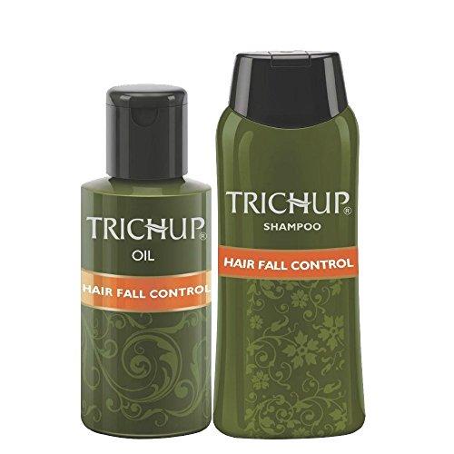 Trichup cheveux automne Contrôle Herbal Kit huile: 2 x 60ml Shampooing: 60ml Kit cheveux naturels Kit Soins du cuir chevelu