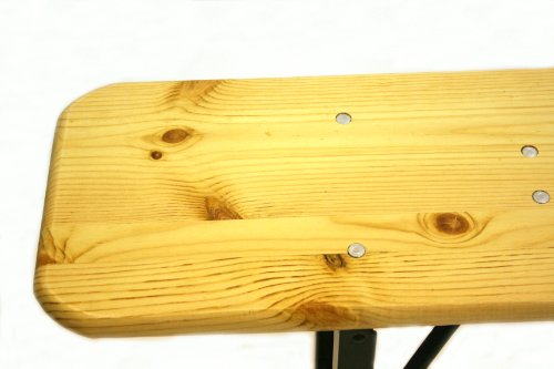 BE Furniture 2 Meter long wooden folding benches, scout benches, beer benches